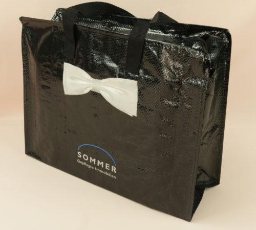 PP Woven Taschen individuell bedrucken lassen, Schweiz #4, Sommer, vorne seitlich rechts, 5009, 10478